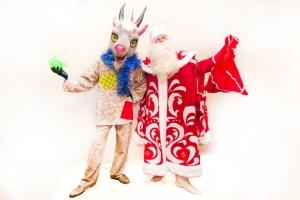 Дед Мороз и символ 2015 года Козел  Дерезел